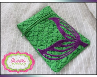 Mermaid Tail 5x7 Lined Zip Bag