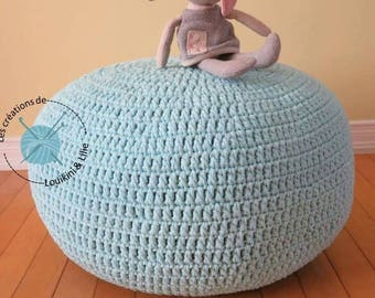 Ottoman, been bag floor cushion, Chair-bag, floor pillow pouf, made by hand to order