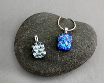 Dainty Necklaces  - Necklace Set - Dichroic Glass Jewelry - Fused Glass Pendant Necklaces - Gifts For Women