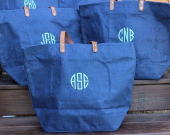Personalized Large Jute Tote Bag Great Birthday Gift or Bridesmaid gift