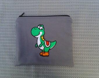 Mario Yoshi Embroidered Zipper Pouch