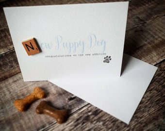 New Puppy card, new addition, new arrival card