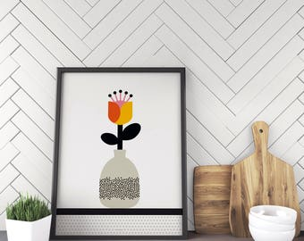poster - 30 x 40 cm - collection pop flower - poster