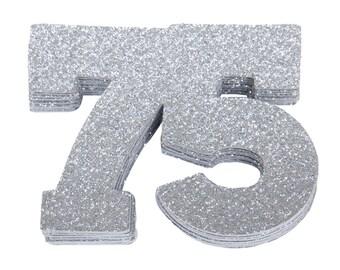 75th Birthday Confetti, 75th Anniversary Confetti, Seventy Fifth Birthday Party Decor,75th Birthday Decor,75th Birthday Favor,75th Milestone
