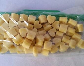 Heart Shaped Bees Wax Melts, Lemon Lavender Scented Wax Melts, Heart Beeswax Melts, Wax Melts, Lemon and Lavender Essential Oils, Heart Melt