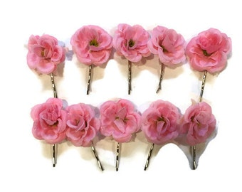 Wedding Flower Hair Clip   Silk Mini Rose