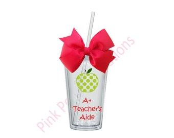 Teachers Aide Tumbler, Teachers Aide Gift, Teachers Aide