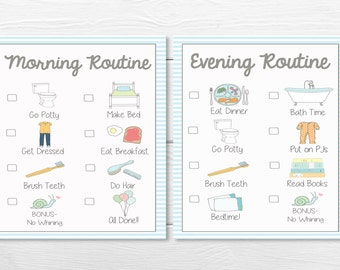 PRINTABLES- DAILY- Young Child/Toddler Boys Chore Chart