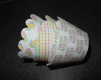 Happy Easter Cupcake Wrappers  Set of 12  Chick