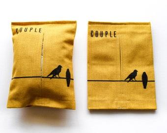 Couple - Tissue box cover