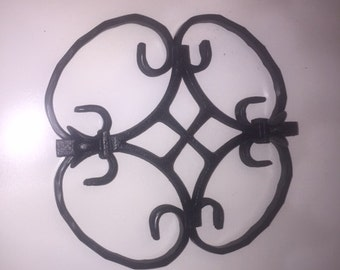 Hand forged wrought iron wall decor