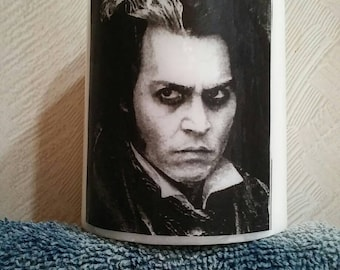 How about a shave? Johnny Depp as Sweeney Todd the demon Street Barber candle