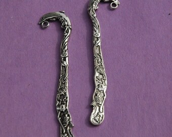 2 Tibet Silver nice Dolphin Bookmarks