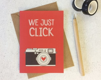 Photography Love Card - anniversary card - friendship card - valentines day card - funny anniversary - love card - i love you - photo card