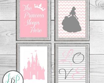 Princess Girl's Room Decor, Princess Nursery Print, Princess Room Decor, Gift for Young Girl,Baby Shower Gift for Girl, Girl's Room Wall Art
