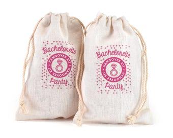 Hangover Survival Kit -  Bachelorette Party Survival Kit - Set of 12 bags