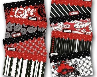 Crimson Poppies Recipe Divider Cards Coordinate with Crimson Poppies Recipe Box