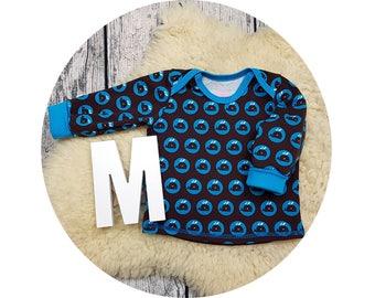 Baby, Mitwachsen shirt, shirt, sweater, baby shirt, American neckline, long sleeve shirt, long sleeve, gift, whale, whale, whales, fish, retro