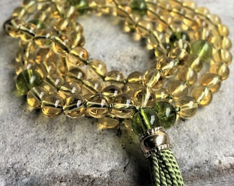 Citrine & Peridot Mala Prayer Beads