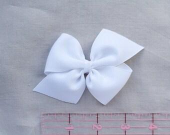 """3"""" Large Pinwheel Bow - White"""