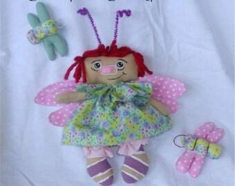 Dragonfly Raggedy Annie Doll Ornie PDF ePattern Instant Download