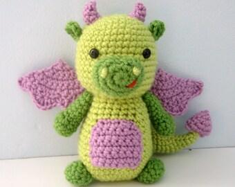 Amigurumi Crochet Dragon Pattern Digital Download