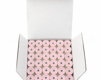 36 Size L Cardboard Sided Prewound Bobbins - White - Fits Many Sewing and Embroidery Machines - See Compatibility List