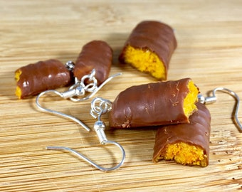Butterfinger polymer clay food jewelry