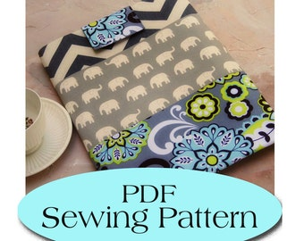 iPad Sleeve Pattern , iPad Case Pattern, iPad Cover PDF Sewing Pattern Ebook Sewing Tutorial, Instant Delivery