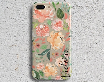 iPhone X clear case Transparent iPhone 7 plus case Spring Tech accessory Pink iPhone 7 case iPhone 8 case Samsung S8 Case S7 Case (1834)