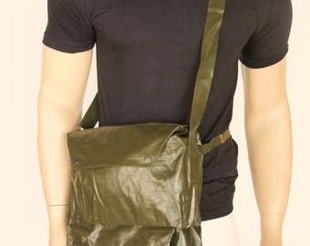 Army surplus/military issue water resistant gas mask  bag.