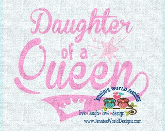 Daughter of a Queen, Crown, Wand  - SVG - PNG Cut File