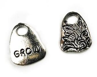 5 pcs Grow Charm - silver
