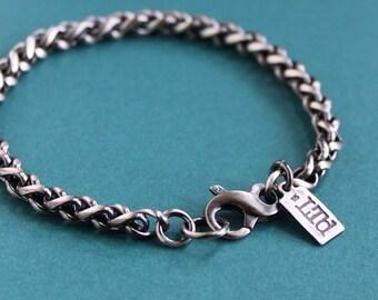 Men's 5mm Sterling Silver Wheat Chain Bracelet
