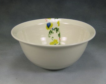 Porcelain Bowl 22 oz Porcelain Bowl, Noodle Bowl, Ramen Bowl, Pho Bowl, Rice Bowl, Soup Bowl, Stir Fry Bowl Hand Thrown Porcelain Pottery 24