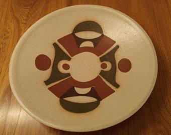 Lapid (Israel) ceramic bowl (large), modernity period (1960's) signed - bol en céramique Lapid, (Israël) style moderne (années 60), signé