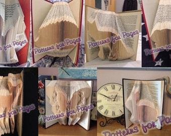 Book folding pattern for 7 WOODLAND ANIMALS SET