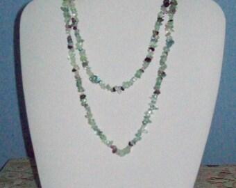 Green Aventurine Chip Necklace