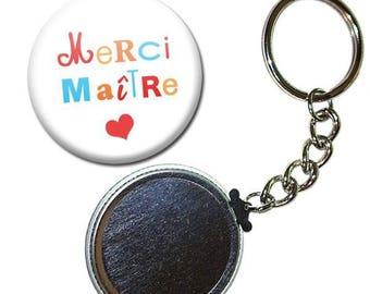 Key Badge 38 mm - thank you teacher writing school gift