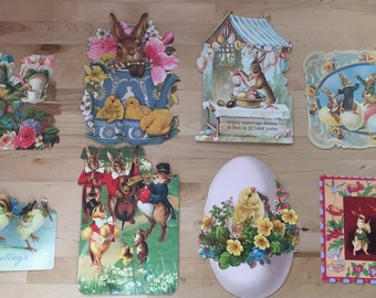 Vintage inspired Happy Easter cards