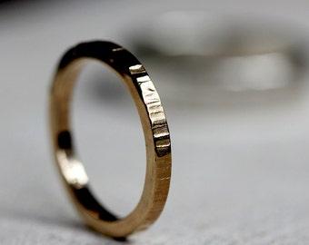 Gold tree bark ring 14k solid gold tree ring