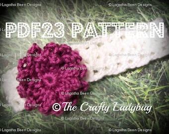 Loopty Loop flower headband pattern - PDF23 - Newborn to adult sizes