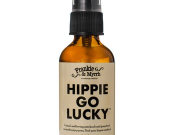 Hippie Go Lucky      A Mind Mellowing Patchouli and Grapefruit Aromatherapy Spray/Perfume/Cologne    Find Your Hippie Medium
