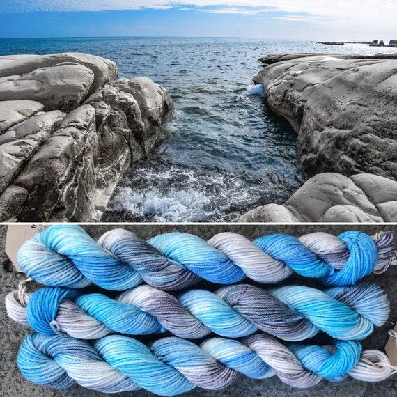 Stony Shore 20g Miniskein, superwash merino nylon indie dyed sock yarn