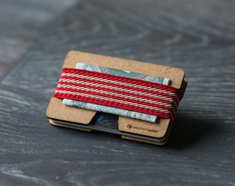 Wooden wallet, credit card holder, men's and women's wallet , slim wallet, minimalist wallet, modern design wallet, N wallet