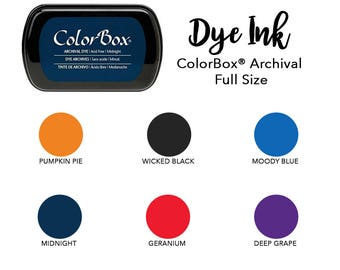 Archival Dye Ink Pad for Stamps, ColorBox Stamp Pad, Pick Your Color