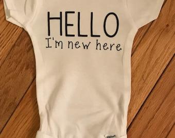 Hello I'm New Here Bodysuit
