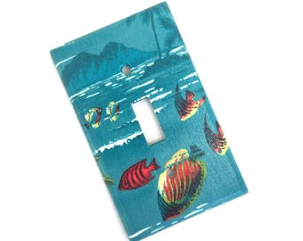 Vintage Tropical Island Light Switch Plate Cover