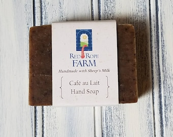 Sample of Cafe au Lait Sheep's Milk Hand Soap, Cold Process, Extra-Moisturizing, 1 Bar