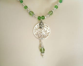 Buddha Necklace, buddha jewelry buddhist jewelry boho jewelry hippie jewelry zen new age bohemian necklace buddhist necklace boho necklace